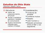 estudios de ohio state fleishman stogdill y share