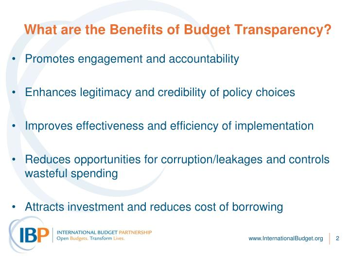 What are the benefits of budget transparency