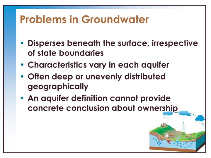 Problems in Groundwater