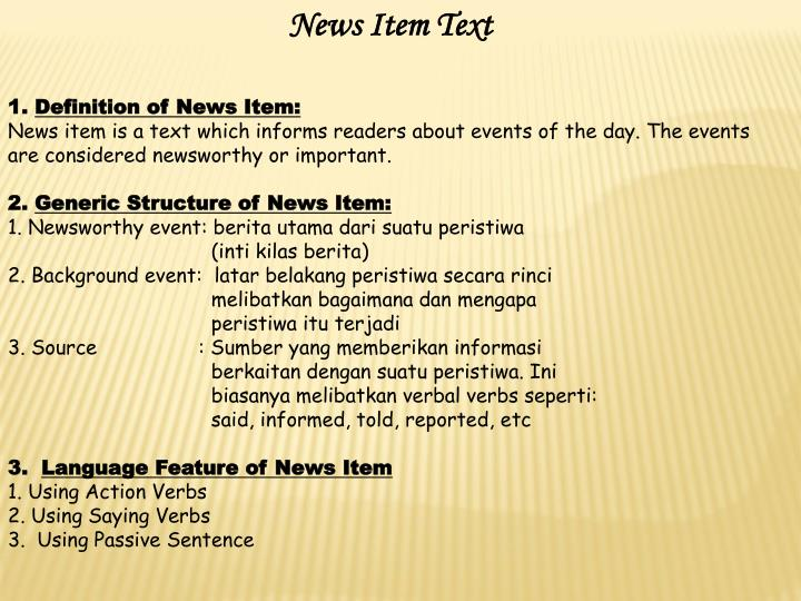 News Item Text