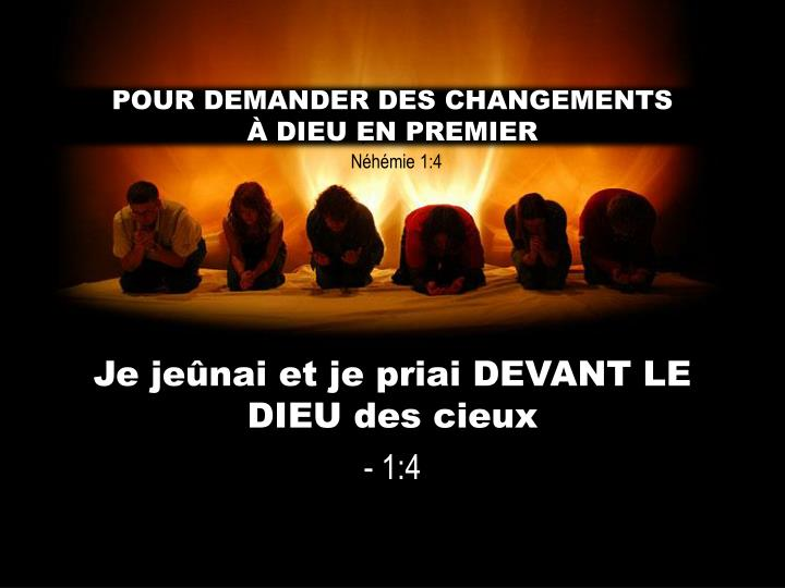 POUR DEMANDER DES CHANGEMENTS