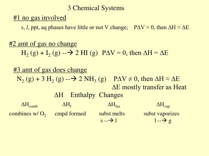 3 Chemical Systems