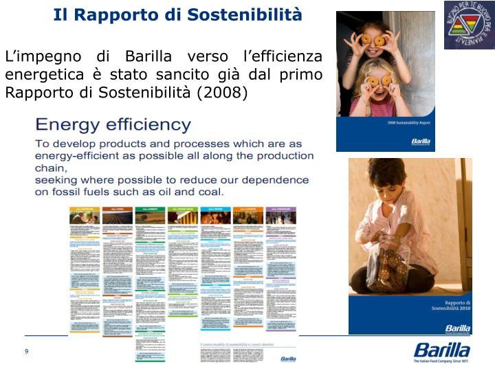 Il Rapporto di Sostenibilità