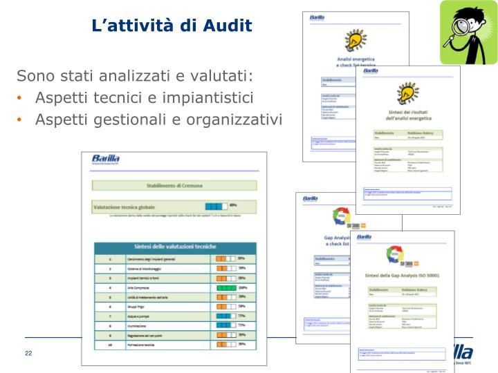 L'attività di Audit
