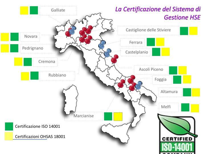 La Certificazione del Sistema di Gestione HSE