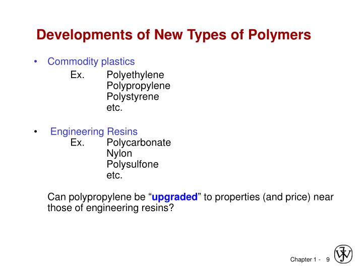 Developments of New Types of Polymers