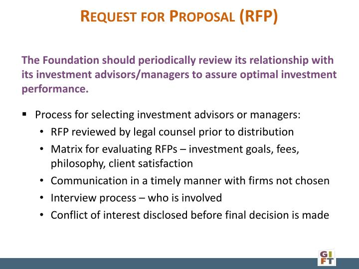 Request for Proposal (RFP)