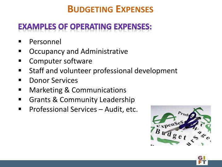 Budgeting Expenses