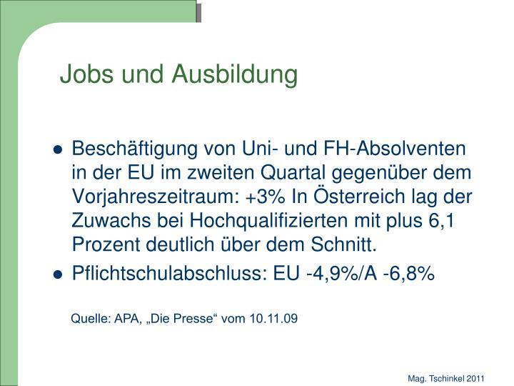 Jobs und Ausbildung