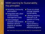 nsw learning for sustainability key principles
