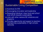 sustainable living competition