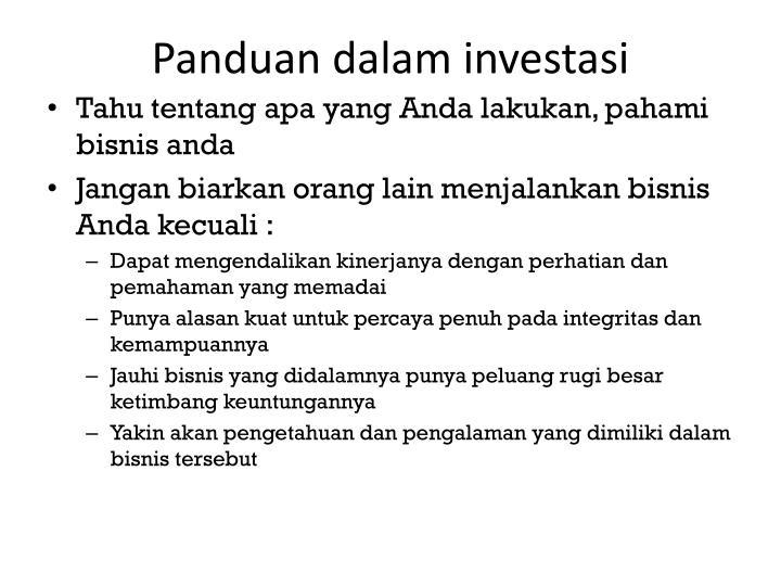 Panduan dalam investasi
