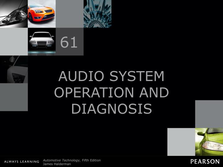 audio system operation and diagnosis n.