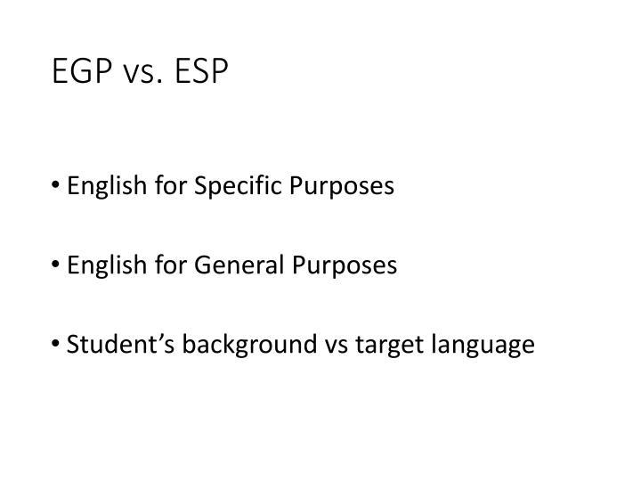 EGP vs.
