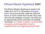 efficient market hypothesis emh