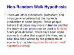 non random walk hypothesis