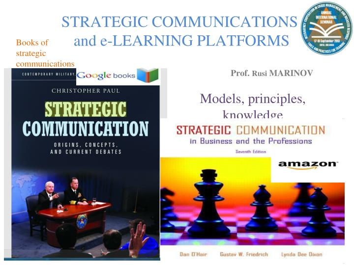 strategic communications and e learning platforms n.
