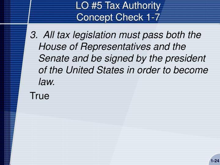 LO #5 Tax Authority