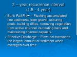 2 year recurrence interval 1 5 4 year