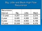 big little and black high flow recurrence