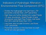 indicators of hydrologic alteration environmental flow component efc