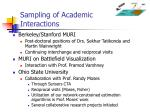 sampling of academic interactions