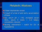 metabolic alkaloses