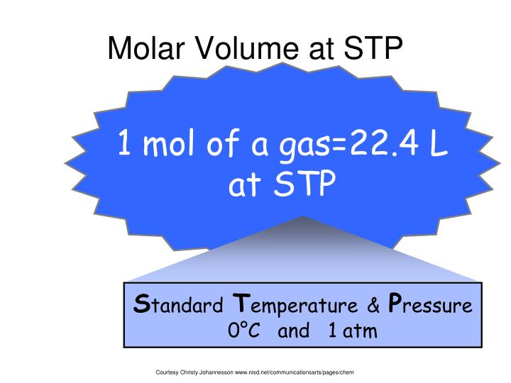 molar volume of a gas essay The volume occupied by one mole of a gas is known as its molar volume all gases that behave ideally have the same molar volume at the same conditions of temperature and pressure for convenience, the molar volume is generally referred to standard conditions of 273 k and 760 torr.