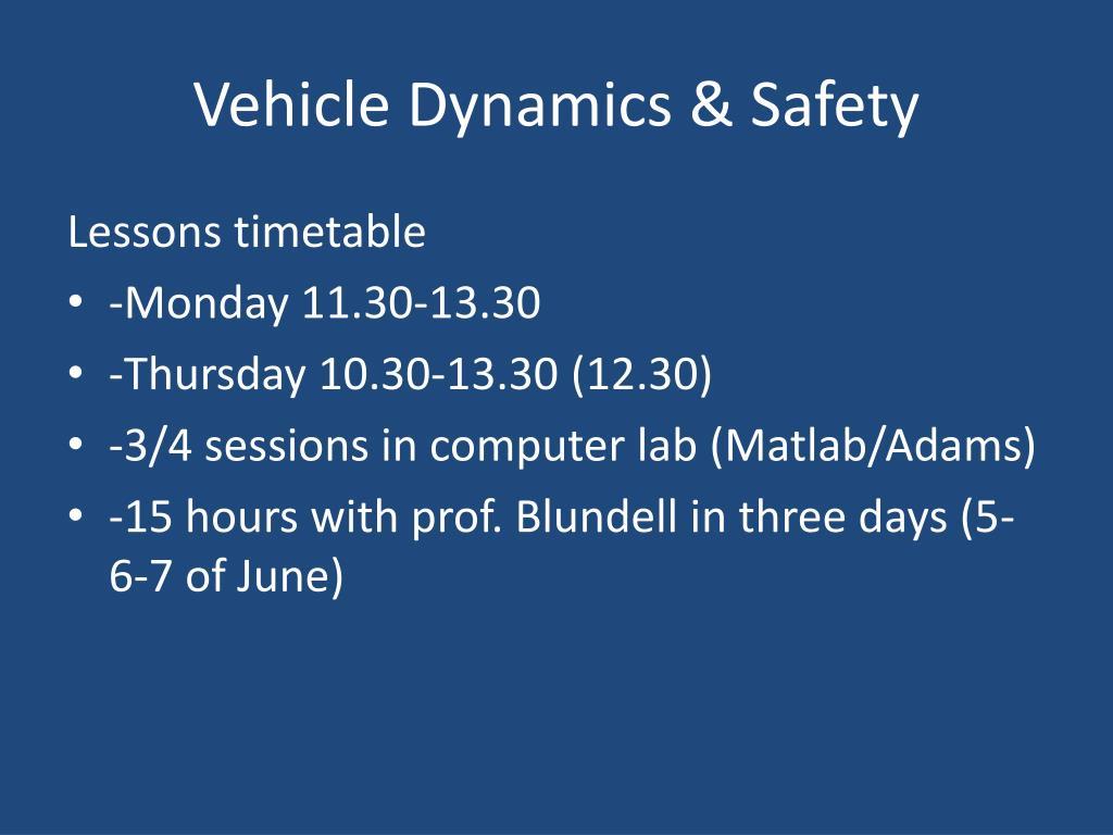 Matlab Vehicle
