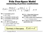 friis free space model summarizing all previous considerations