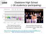 gladstone high school 30 students yr participating