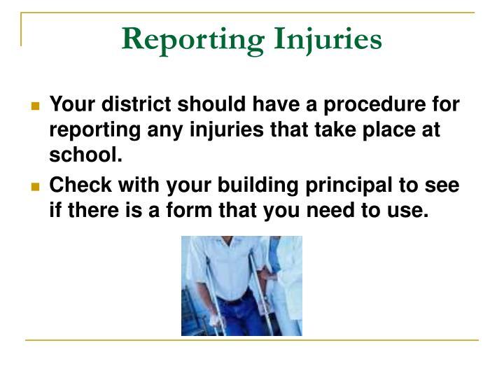Reporting Injuries