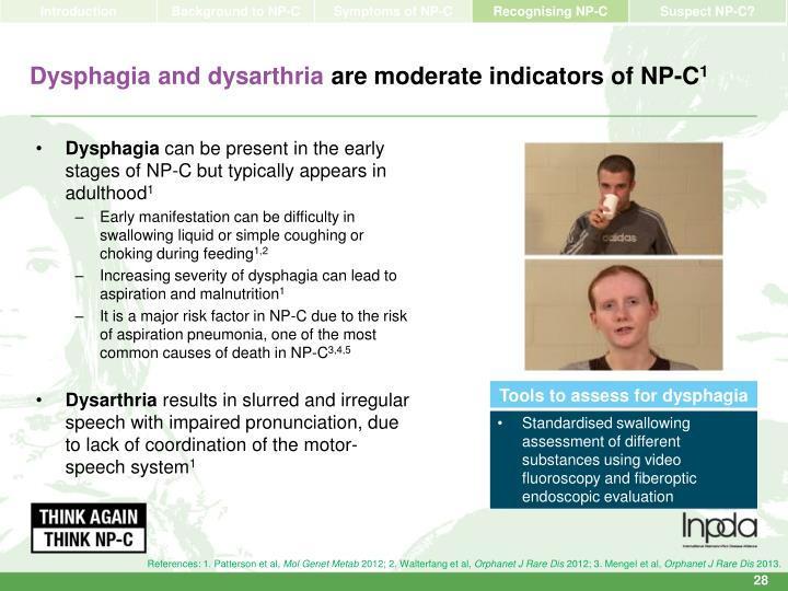 Dysphagia and dysarthria