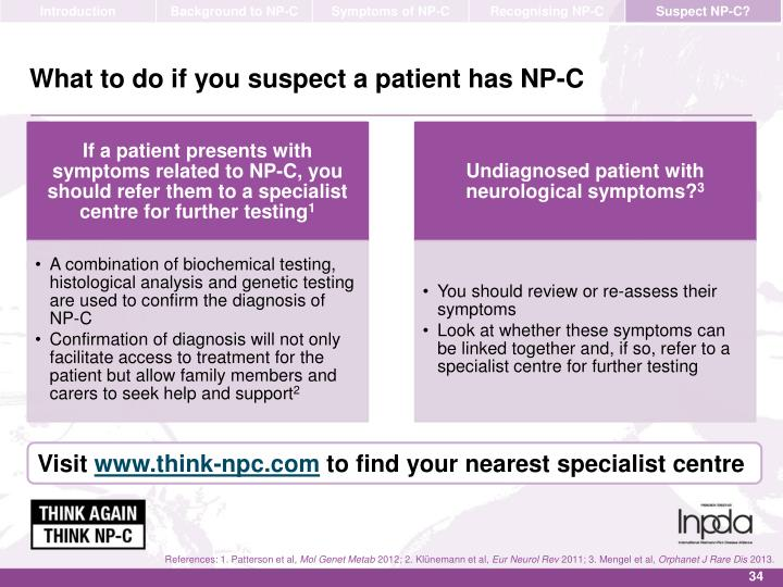 What to do if you suspect a patient has NP-C