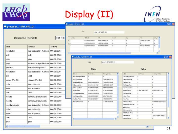Display (II)