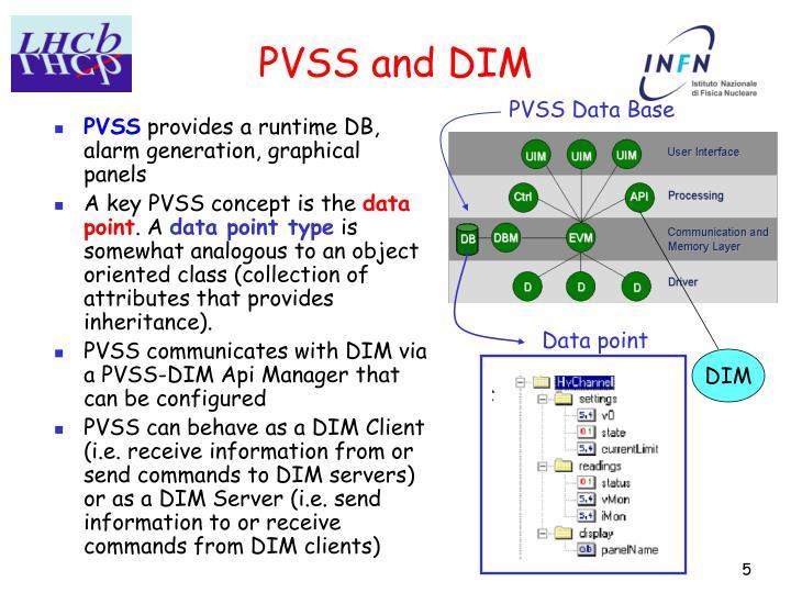 PVSS and DIM