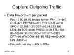 capture outgoing traffic