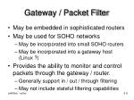 gateway packet filter
