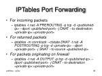 iptables port forwarding
