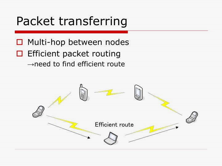 Packet transferring