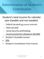 determination of student s contribution