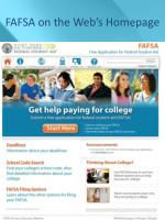 fafsa on the web s homepage