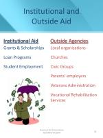 institutional and outside aid