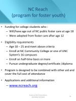 nc reach program for foster youth
