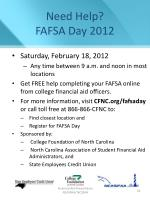 need help fafsa day 2012