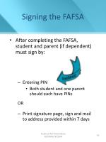 signing the fafsa