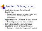 problem solving cont