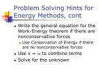problem solving hints for energy methods cont