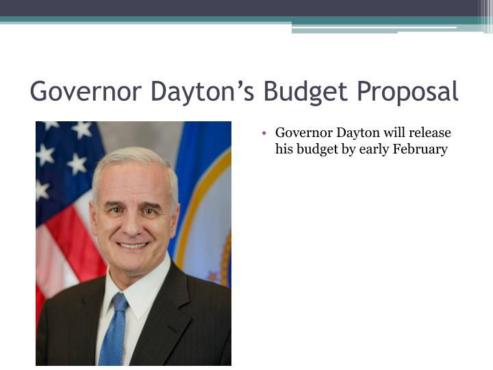 Governor Dayton's Budget Proposal