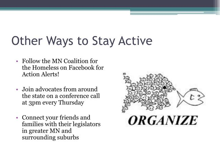 Other Ways to Stay Active